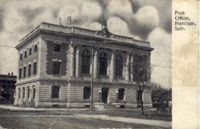Post Office - Hastings, Nebraska NE Postcard