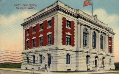 5825. Post Office - Hastings, Nebraska NE Postcard