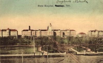 State Hospital - Hastings, Nebraska NE Postcard