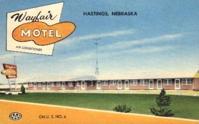Wayfair Motel - Hastings, Nebraska NE Postcard