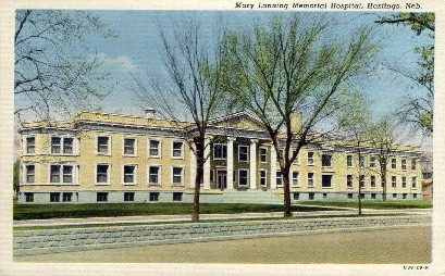 Mary Lanning Memorial Hospital - Hastings, Nebraska NE Postcard