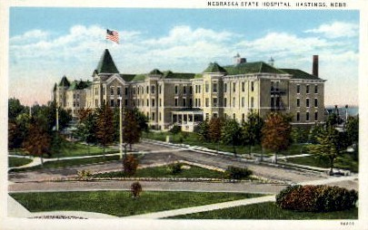 Nebraska State Hospital - Hastings Postcard