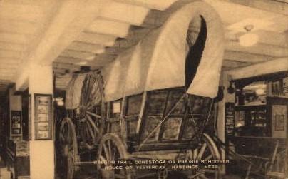 Cregon Trail Conestoga - Hastings, Nebraska NE Postcard