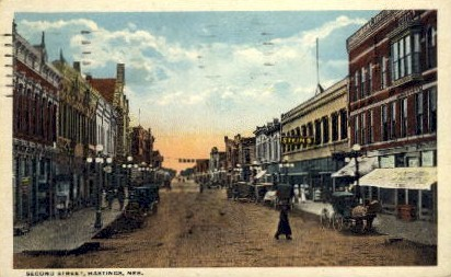 Second Street - Hastings, Nebraska NE Postcard