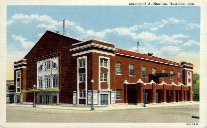 Municipal Auditorium - Hastings, Nebraska NE Postcard