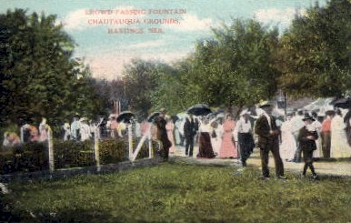 Chautauqua Grounds - Hastings, Nebraska NE Postcard