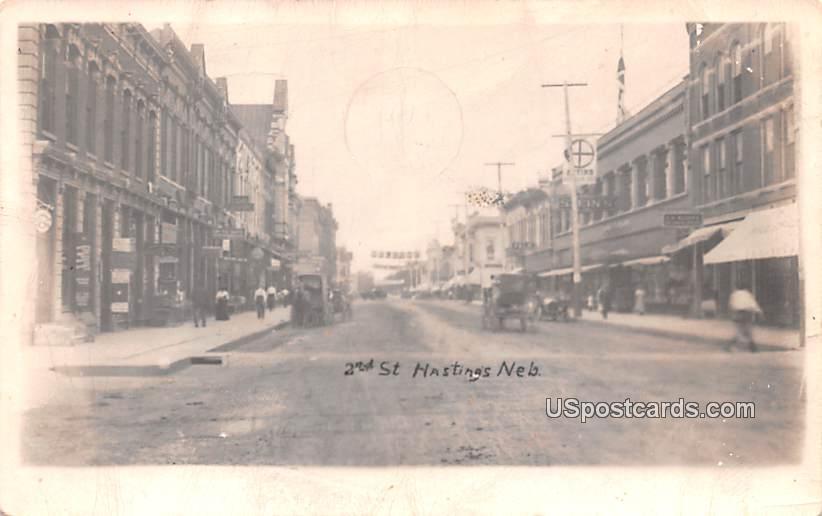 2nd Street - Hastings, Nebraska NE Postcard