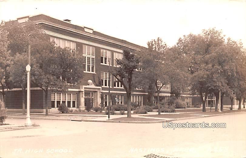 Junior High School - Hastings, Nebraska NE Postcard