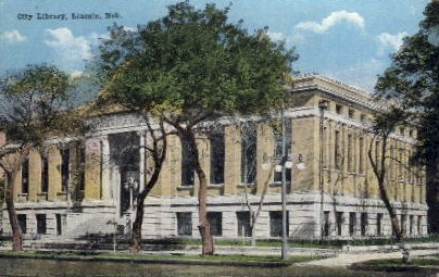 City Library - Lincoln, Nebraska NE Postcard