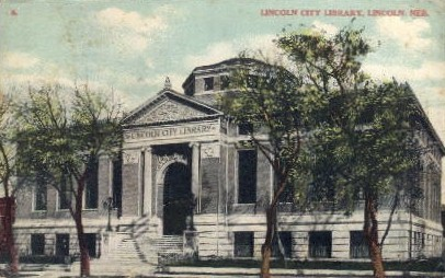 Lincoln City Library - Nebraska NE Postcard
