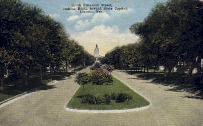 South Fifteenth Street - Lincoln, Nebraska NE Postcard