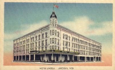 Hotel Lindell - Lincoln, Nebraska NE Postcard