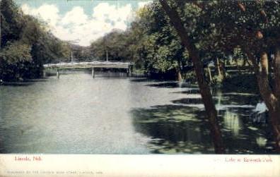 Lake at Epworth Park - Lincoln, Nebraska NE Postcard