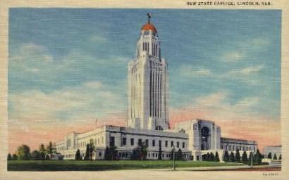 New State Capitol - Lincoln, Nebraska NE Postcard
