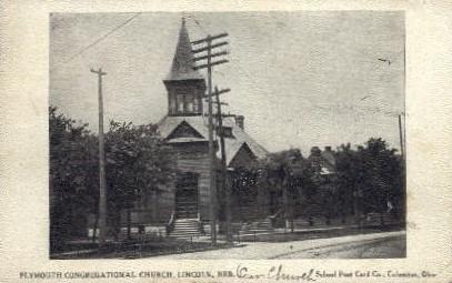 Plymouth Congregational Church - Lincoln, Nebraska NE Postcard