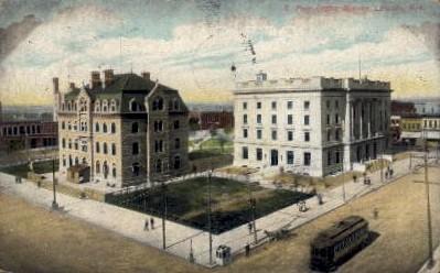 Post Office Square - Lincoln, Nebraska NE Postcard