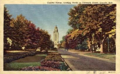 Capitol Tower - Lincoln, Nebraska NE Postcard