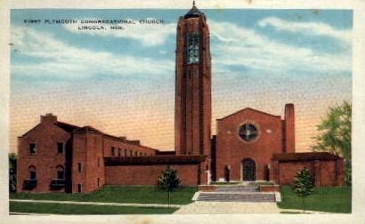 First Plymouth Congregational Church - Lincoln, Nebraska NE Postcard