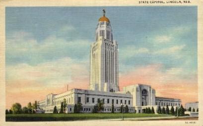 State Capitol - Lincoln, Nebraska NE Postcard