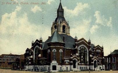 St. Paul M.E. Church - Lincoln, Nebraska NE Postcard
