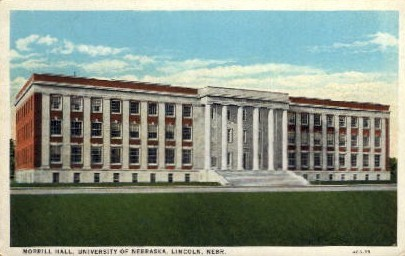 Morrill Hall, University of Nebraska - Lincoln Postcard