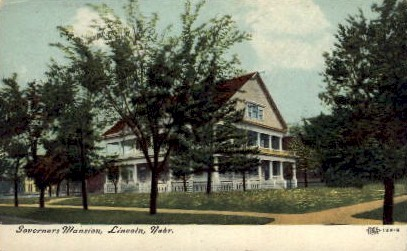 Sovernors Mansion - Lincoln, Nebraska NE Postcard