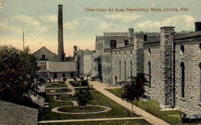 View inside the State Penitentiary - Lincoln, Nebraska NE Postcard