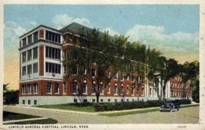 Lincoln General Hospital - Nebraska NE Postcard