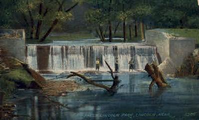 Falls, Lincoln Park - Nebraska NE Postcard