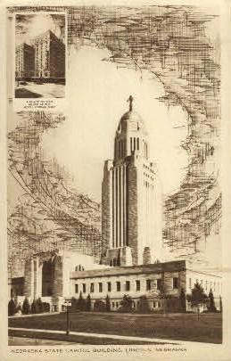Nebraska State Capitol - Lincoln Postcard
