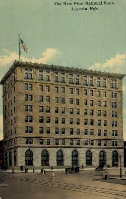 The New First National Bank - Lincoln, Nebraska NE Postcard