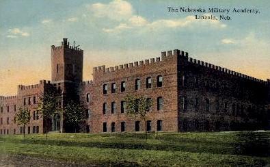 The Nebraska Military Academy - Lincoln Postcard