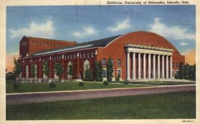 Coliseum, University of Nebraska - Lincoln Postcard