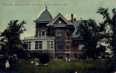 Home of Wm. Jennings Bryan - Lincoln, Nebraska NE Postcard
