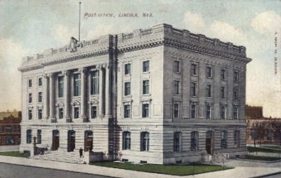 Post Office - Lincoln, Nebraska NE Postcard