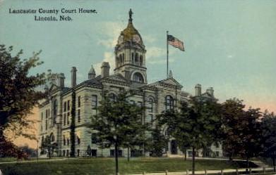 Lancaster County Court House - Lincoln, Nebraska NE Postcard