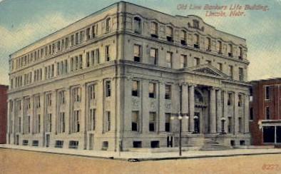 Old Line Bankers Life Building - Lincoln, Nebraska NE Postcard