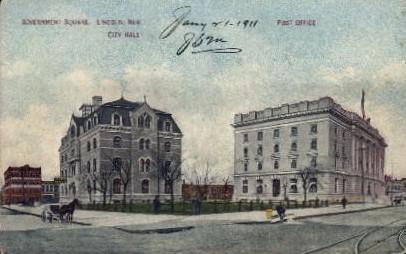Government Square - Lincoln, Nebraska NE Postcard