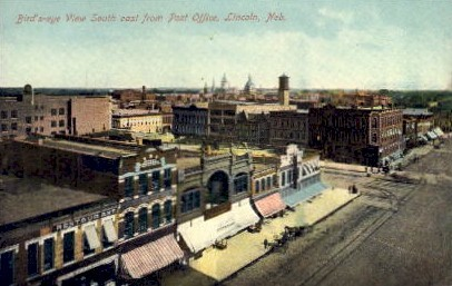South east from Post Office - Lincoln, Nebraska NE Postcard