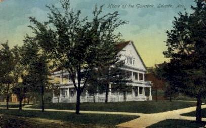 Home of the Govenor - Lincoln, Nebraska NE Postcard
