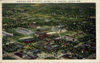 Birds eye view- University of Nebraska - Lincoln Postcard