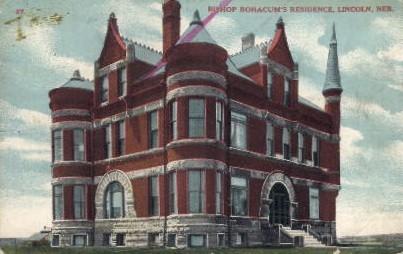 Bishop Bonacum's Residence - Lincoln, Nebraska NE Postcard