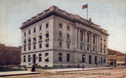 United States Court House and Post Office - Lincoln, Nebraska NE Postcard