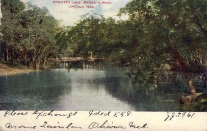 Epworth Lake, Epworth Park - Lincoln, Nebraska NE Postcard