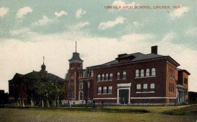 Lincoln High School - Nebraska NE Postcard