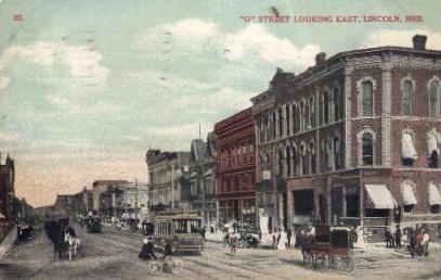 O Street looking East - Lincoln, Nebraska NE Postcard