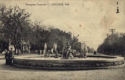 Thompson Fountain - Lincoln, Nebraska NE Postcard