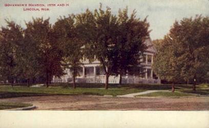 Governor's Manision - Lincoln, Nebraska NE Postcard