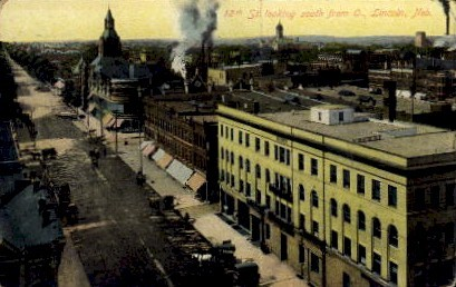 12th Street  - Lincoln, Nebraska NE Postcard