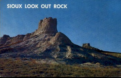 Siox Look Out Rock - Lincoln, Nebraska NE Postcard